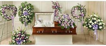 Lavender Sympathy Flower Arrangements for funeral