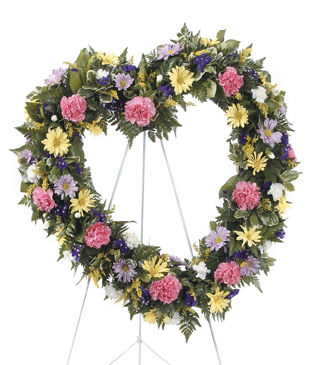 Heart Shaped Standing Wreath