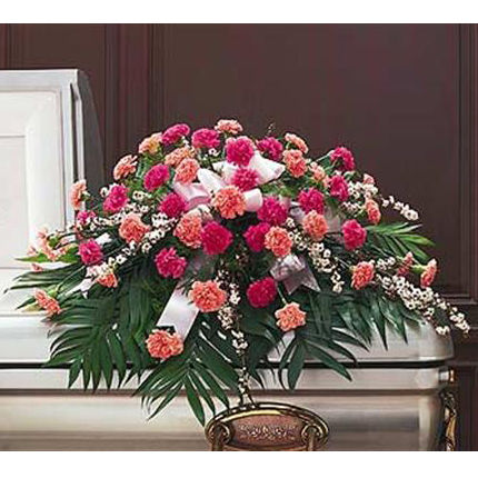 Colorful Carnation Casket Spray