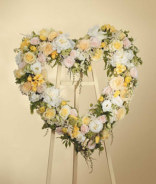 Heart Wreath Arrangement