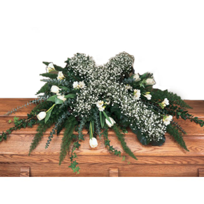 Casket Spray with Cross
