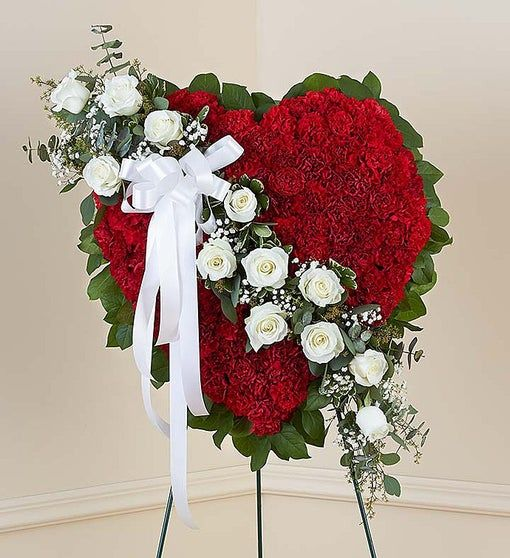 Sympathy Carnation Heart Wreath